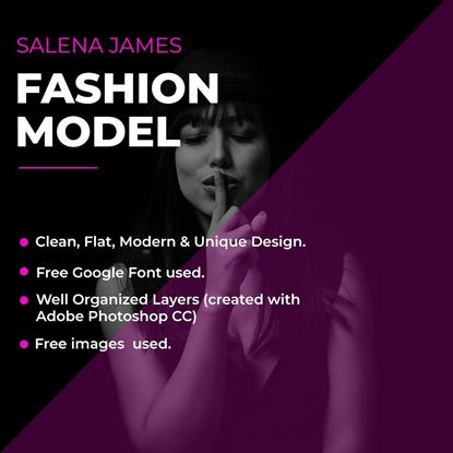 Fashion Model PSD Cover Image