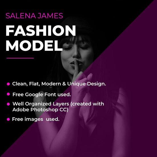 Fashion Model PSD Cover Image