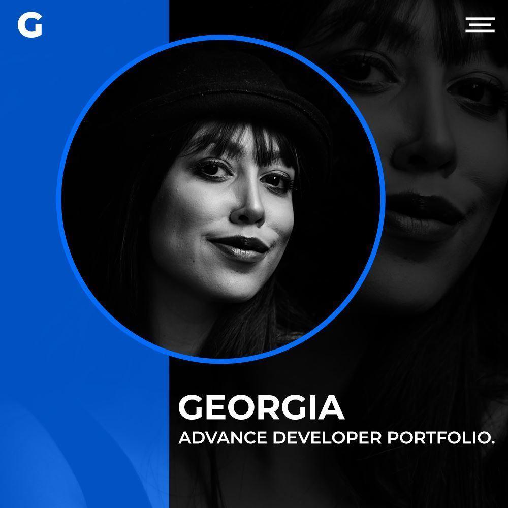 Georgia Advance Developer Portfolio PSD Template Cover Image
