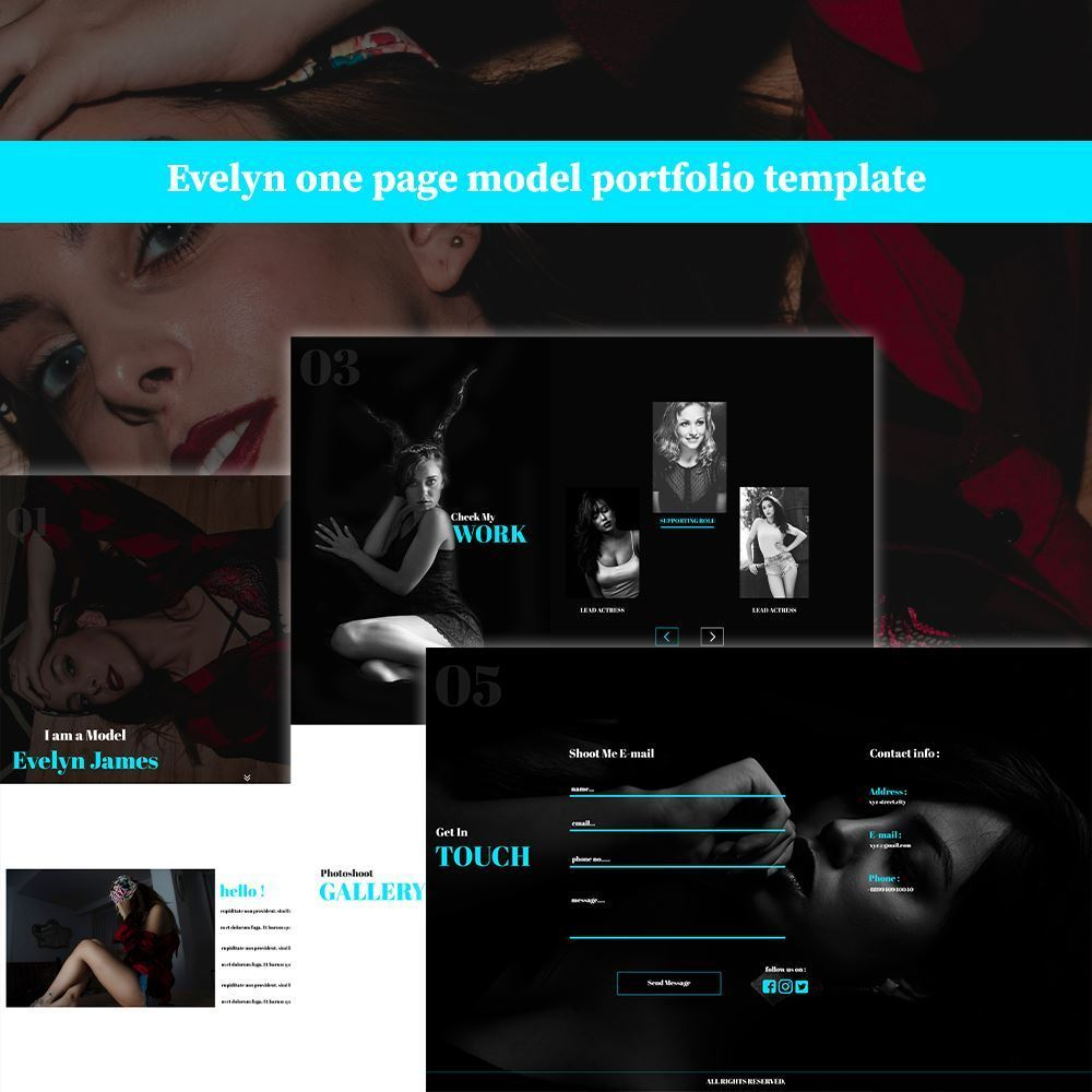 Evelyn HTML5 Template Cover Image