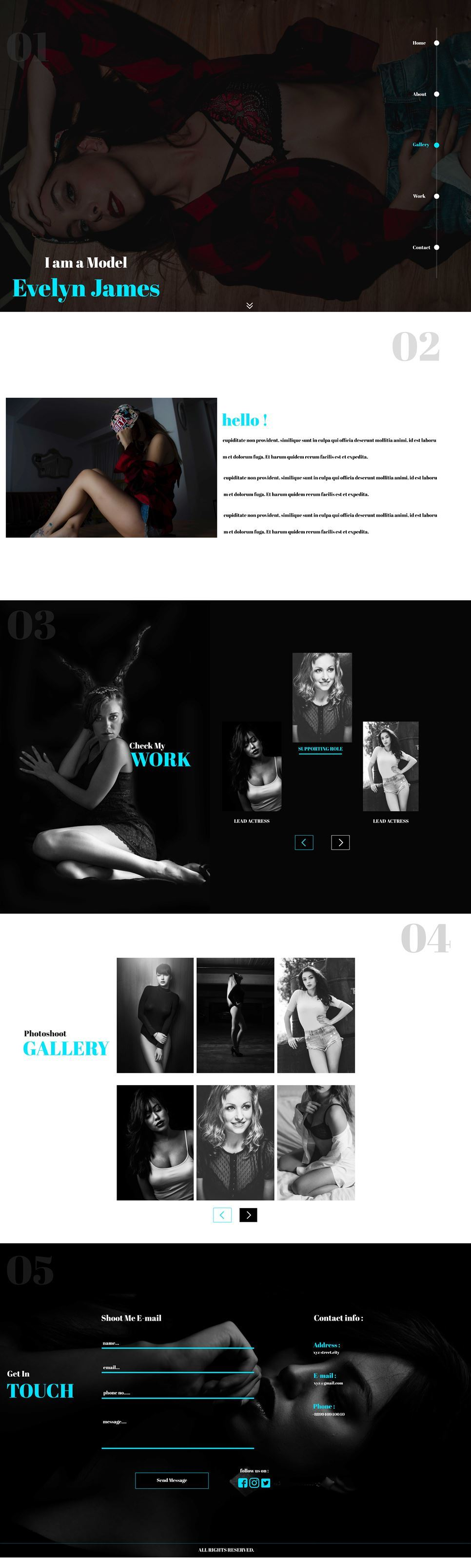 Evelyn HTML5 Template PSD Image