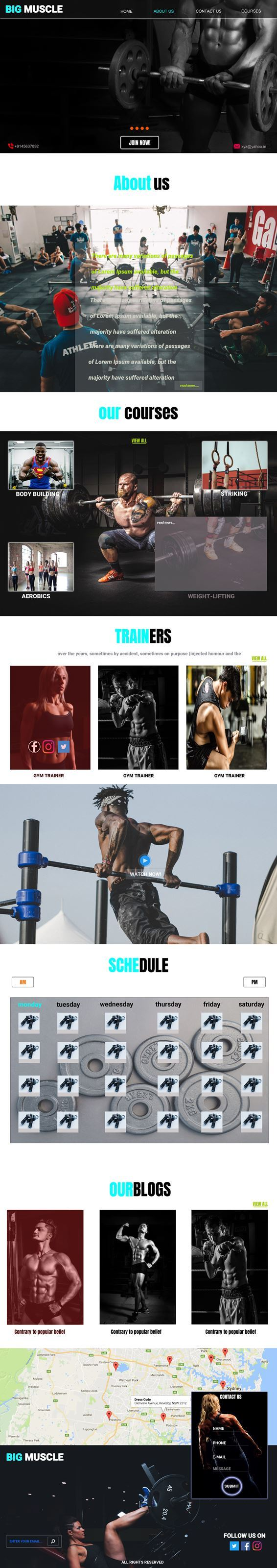 Big Muscle HTML5 Template PSD Image