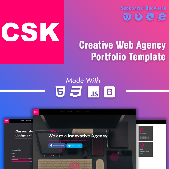 CSK - Creative Agency Responsive Portfolio Template