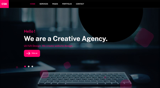 CSK - Creative Agency Responsive Portfolio Template Hero Image