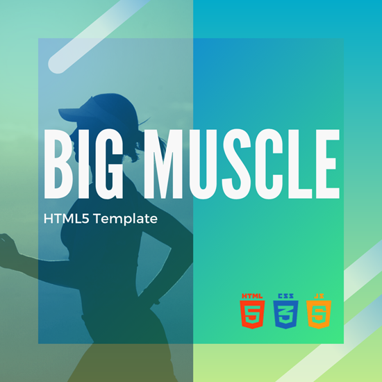 Big Muscle HTML5 Template Cover Image